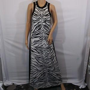 Karen Kane Zebra Maxi Dress Size Medium